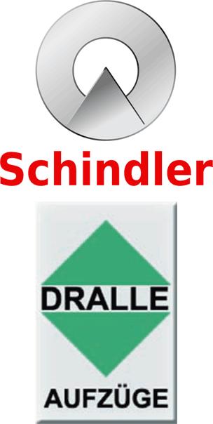 Logos von Schindler und Dralle Aufzüge