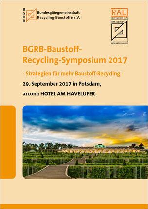 Flyer zum BGRB-Baustoff-Recycling-Symposium 2017