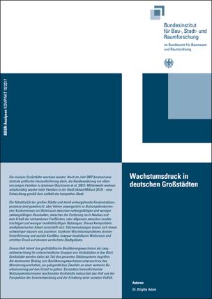 """BBSR-Analyse """"Wachstumsdruck in deutschen Großstädten"""""""