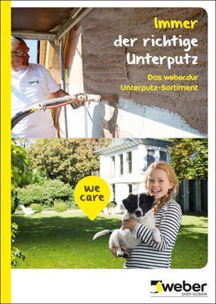 """Broschüre """"Immer der richtige  Unterputz - Das weber.dur-Unterputz-Sortiment"""""""