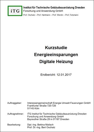 BDH/iTG-Studie: Einsparpotenziale durch Digitale Heizung