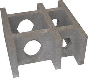 ÖKO-Inside - Mauerstein aus Leichtbeton für eine selbst wählbare Dämmfüllung