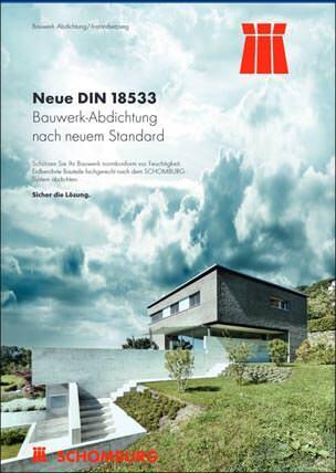 """Broschüre """"Neue DIN 18533- Bauwerk-Abdichtung nach neuem Standard"""""""