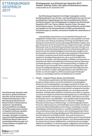 Strategiepapier zum Ettersburger Gespräch 2017