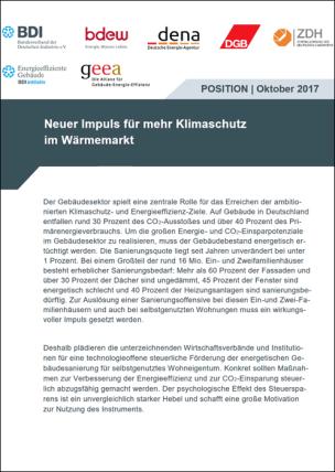 """Modellvorschlag """"Neuer Impuls für mehr Klimaschutz im Wärmemarkt"""""""