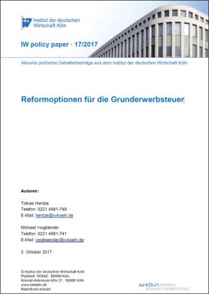 """IW-Studie """"Reformoptionen für die Grunderwerbsteuer"""""""