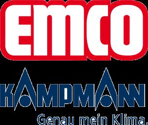 Logos von Emco Klima und Kampmann