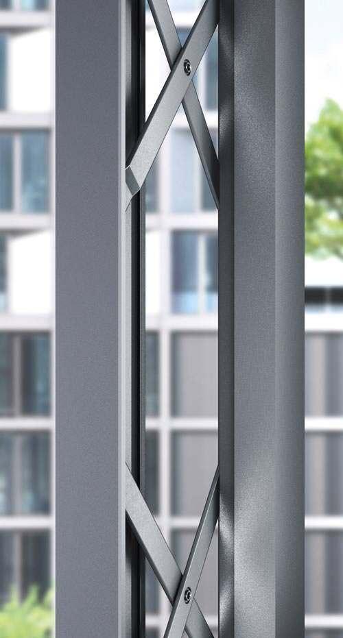 parallelausstellscheren aus edelstahl f r nach au en ffnende aluminiumfenster neu von roto. Black Bedroom Furniture Sets. Home Design Ideas