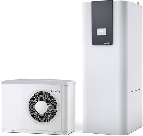 Kombination aus der Luft-Wasser-Wärmepumpe TTL 4.5 ACS und dem Integralspeicher TSBC 200