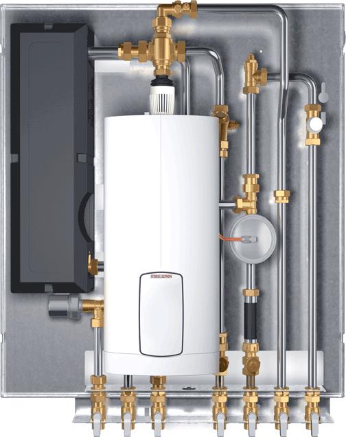 WSP DUO - Wohnungsstation mit integriertem Durchlauferhitzer