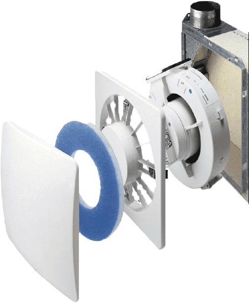 S&P Einrohrlüfter zur Entlüftung von innenliegenden Bädern, WCs und Wohnküchen
