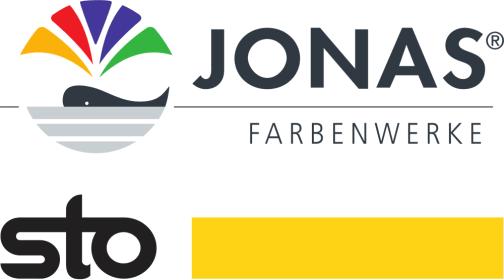 Logos von Jonas Farbenwerke und Sto