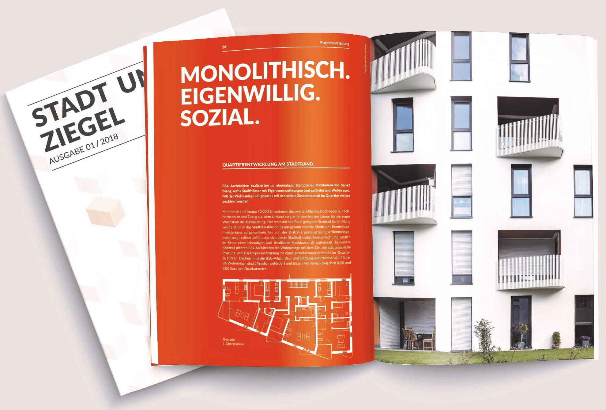 """Stadt und Ziegel"""": Neues Magazin für modernen Wohnungsbau"""