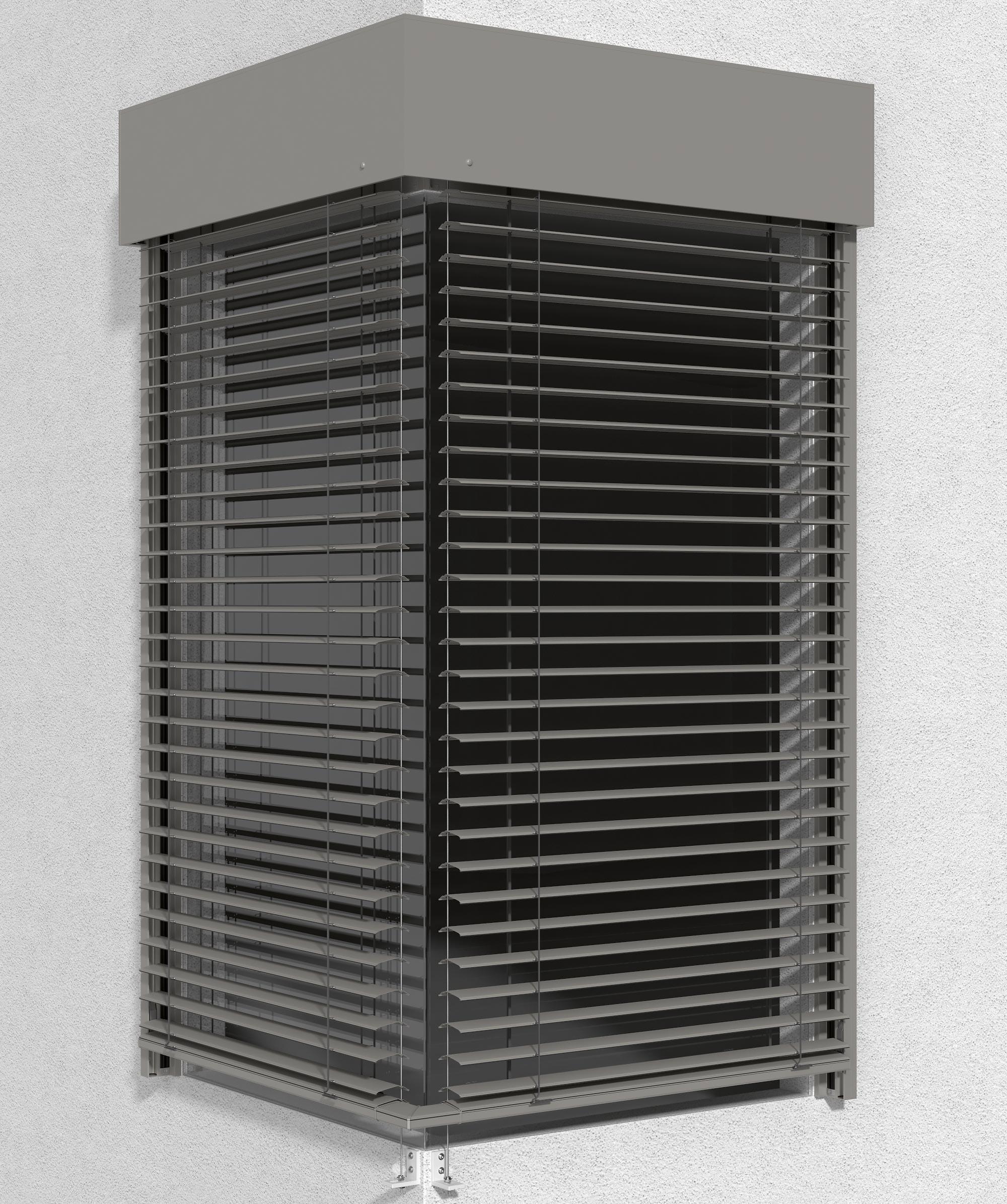 romas neuer cdl raffstore auch bers ganzglaseck und als vorbauraffstore. Black Bedroom Furniture Sets. Home Design Ideas