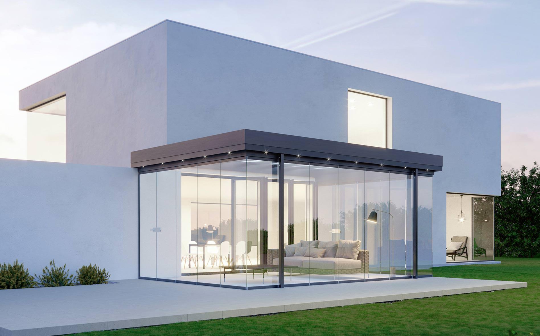 Neues Terrassendach von Solarlux schafft die Horizontalisierung der ...