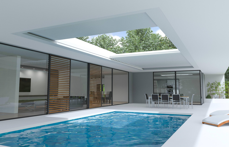 aero skye gro formatiges cabriodach f r flachd cher neu von renson. Black Bedroom Furniture Sets. Home Design Ideas