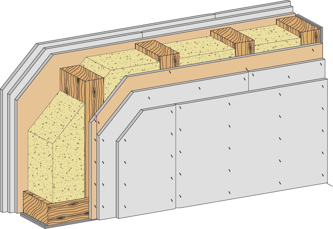 hw13rf neue brandwand f r den holzbau von rigips. Black Bedroom Furniture Sets. Home Design Ideas