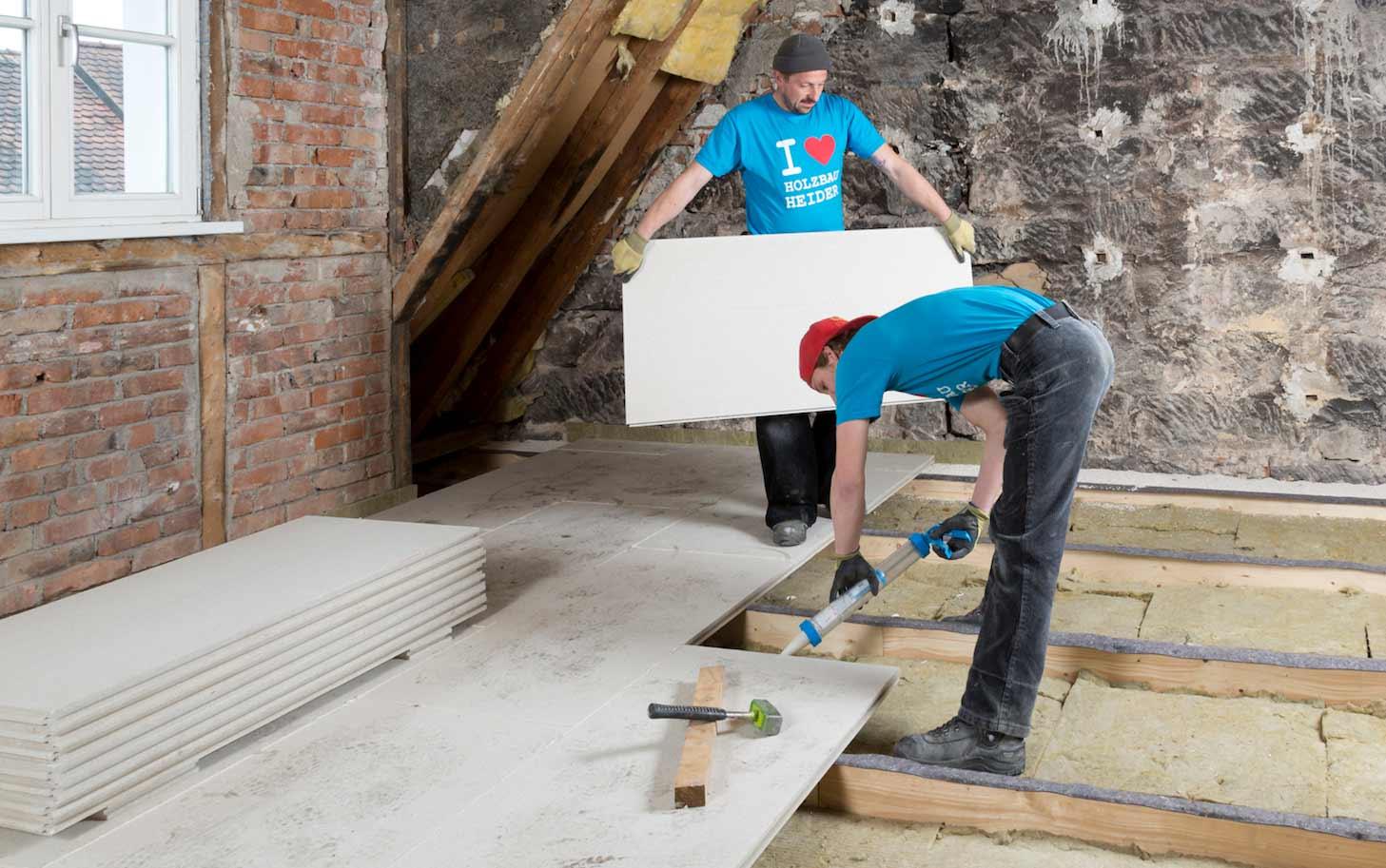 historische holzbalkendecke trocken und schlank mit knauf gifa floor presto saniert. Black Bedroom Furniture Sets. Home Design Ideas