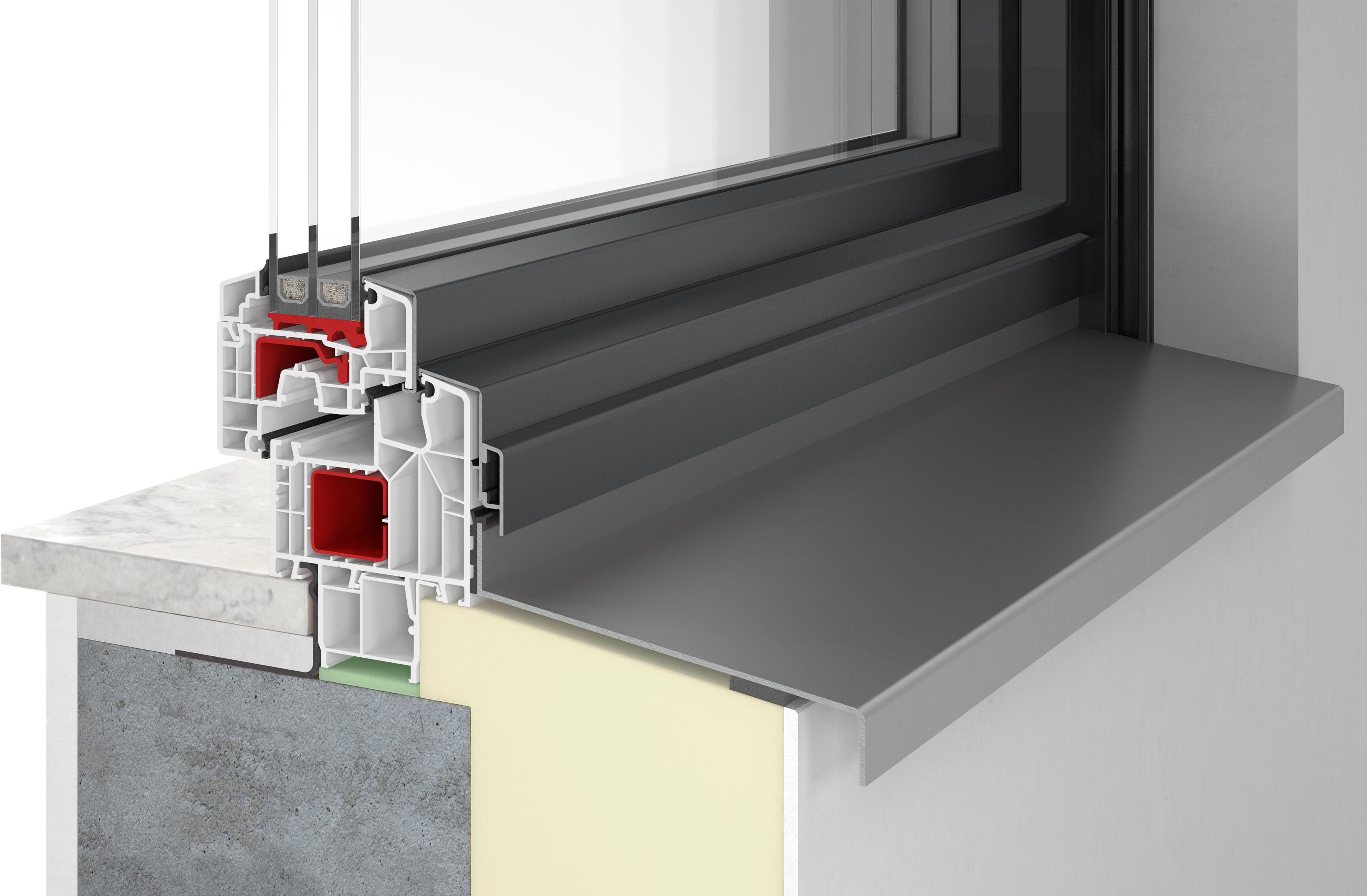 kunststoff alu fenster mit schlanken ansichtsbreiten la. Black Bedroom Furniture Sets. Home Design Ideas
