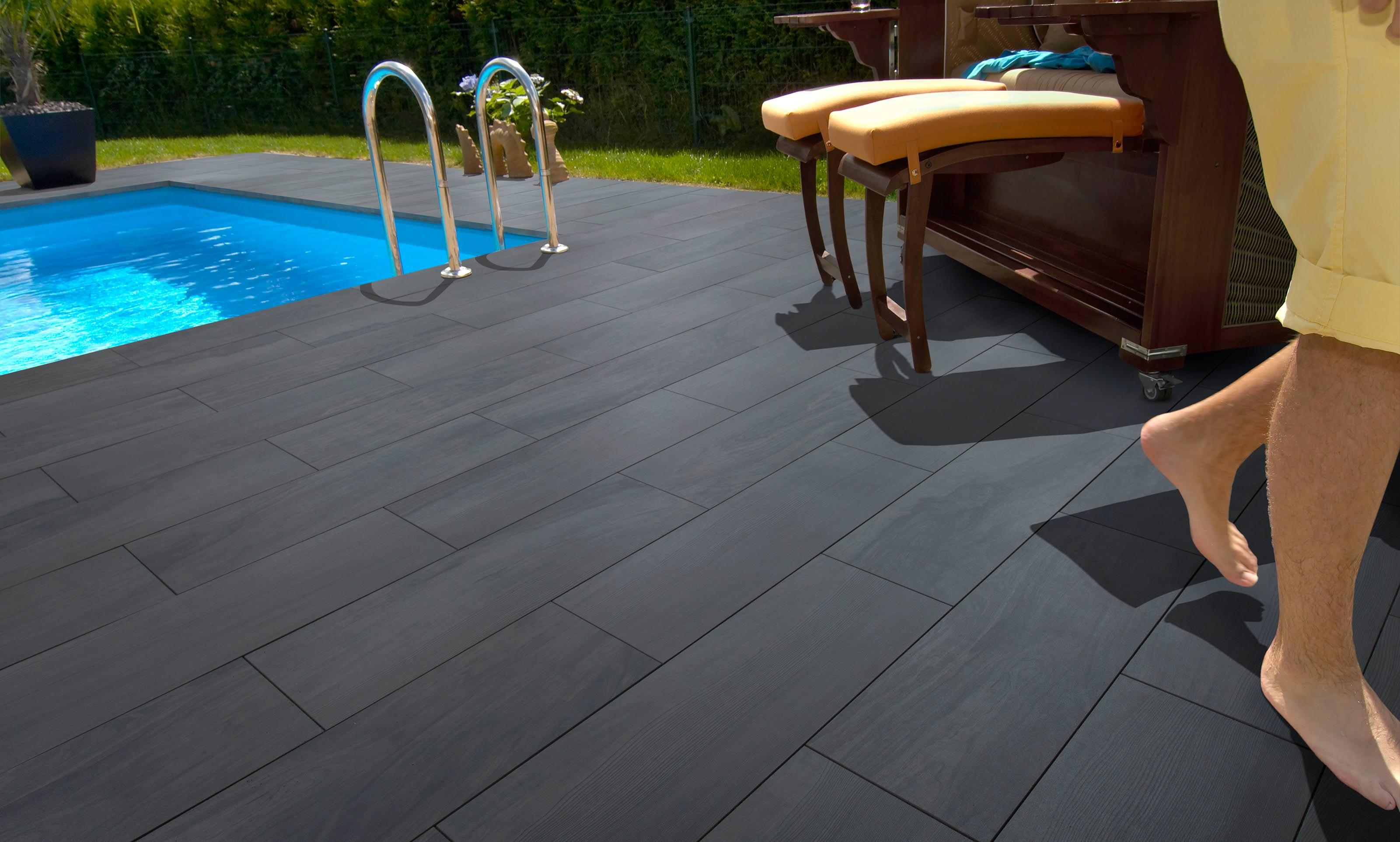 BetonKeramikVerbundplatte Von KANN Für Dauerhafte Holzoptik Auf - Splittbett für terrasse