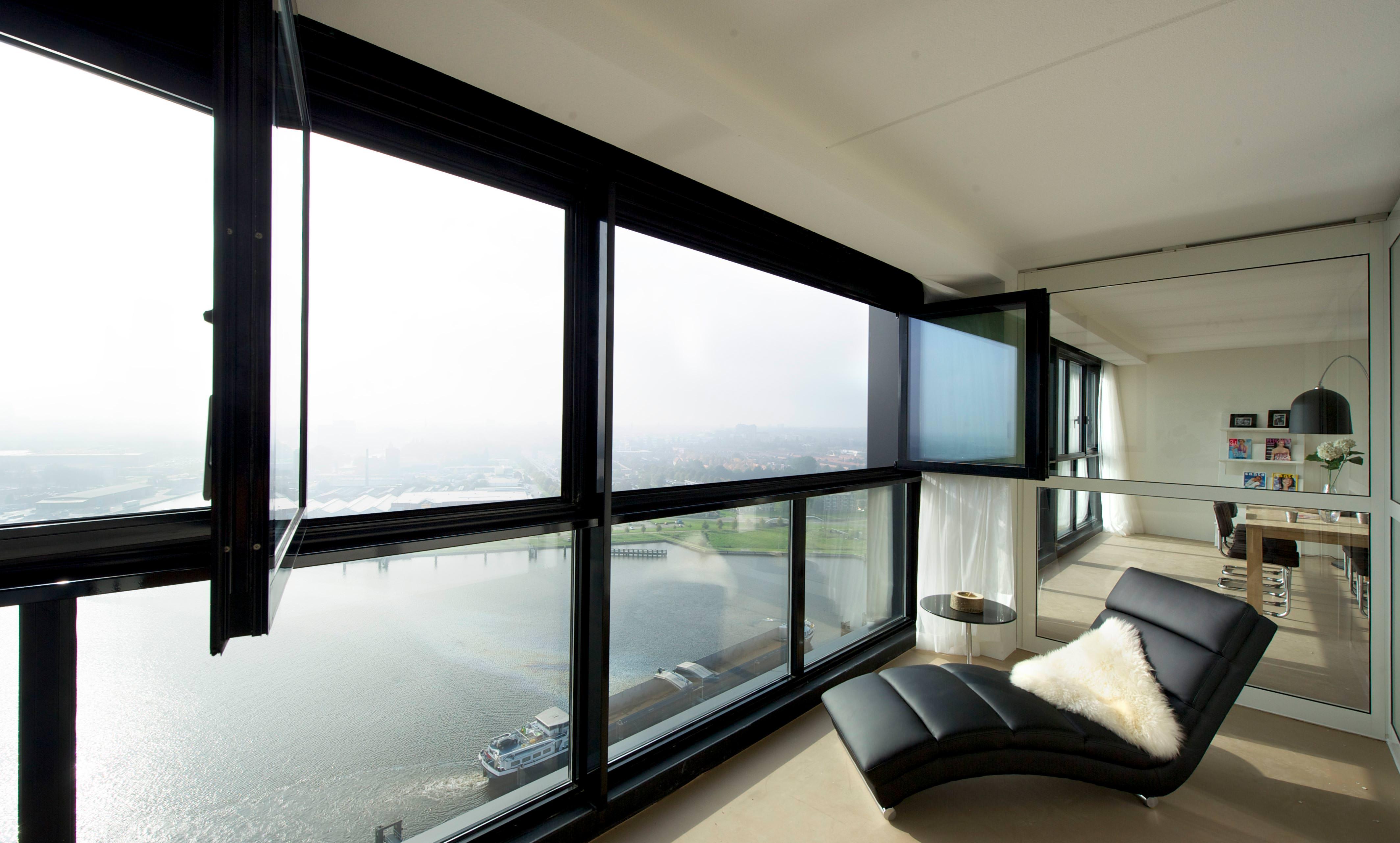 Beliebt Bevorzugt Glas-Faltwand als Balkonverglasung zur Wohnraumerweiterung @UZ_58