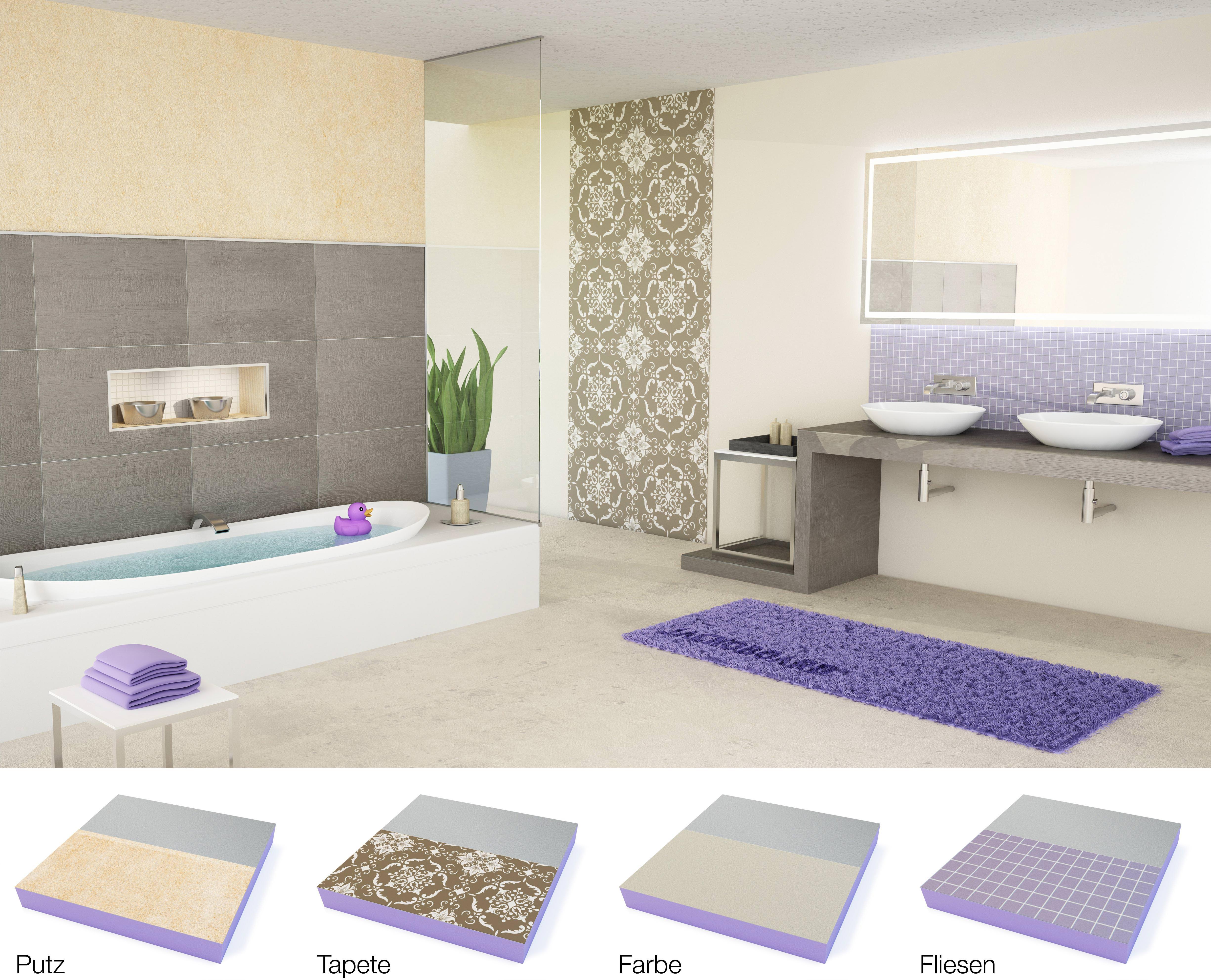 tapezieren oder verputzen affordable putz statt tapete fa r e matte innenwande verputzen statt. Black Bedroom Furniture Sets. Home Design Ideas