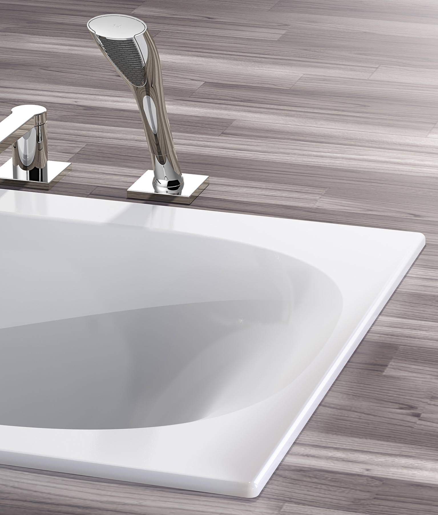 badewannenserie koralle t300 folgt dem trend zur optischen leichtigkeit. Black Bedroom Furniture Sets. Home Design Ideas