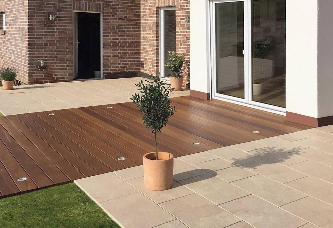diamantgeb rstete terrassenplatten mit mediterranem touch im gro format la jasto. Black Bedroom Furniture Sets. Home Design Ideas