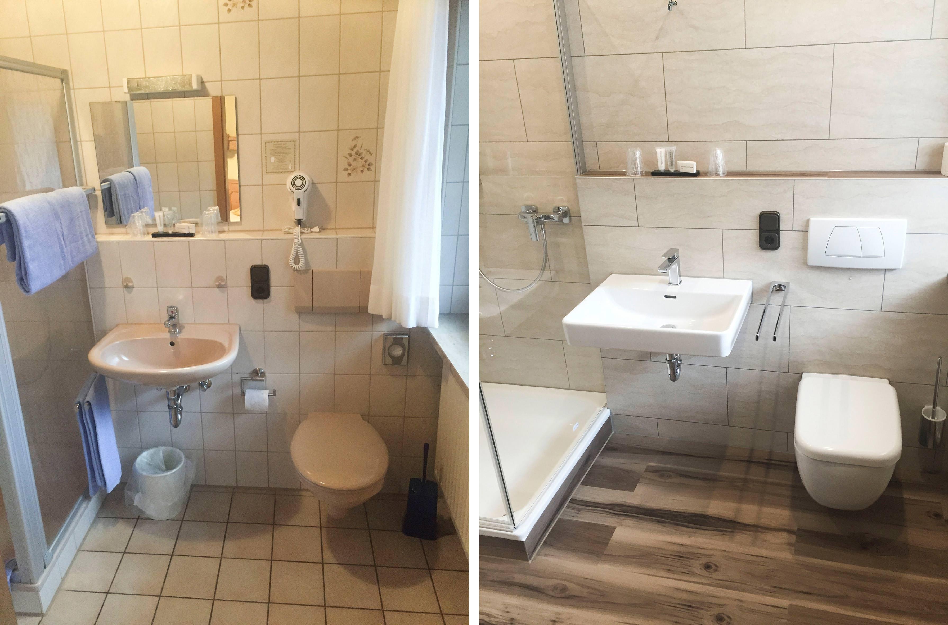 luxury vinyl tile lvt an der wand und im bad. Black Bedroom Furniture Sets. Home Design Ideas