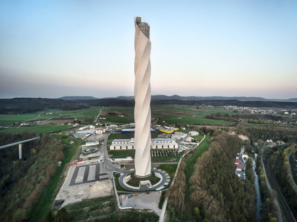 ThyssenKrupp Testturm in Rottweil von Werner Sobek und JAHN Architects (Foto © Rainer Viertlböck, Gauting)