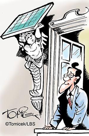 Solaranlage trifft auf Denkmal