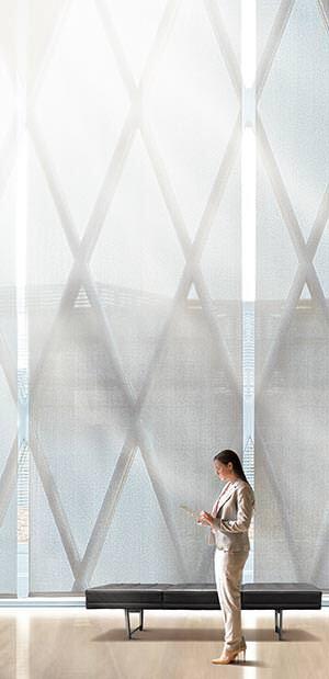 innenliegender Sonnenschutz aus LowE-Materialien