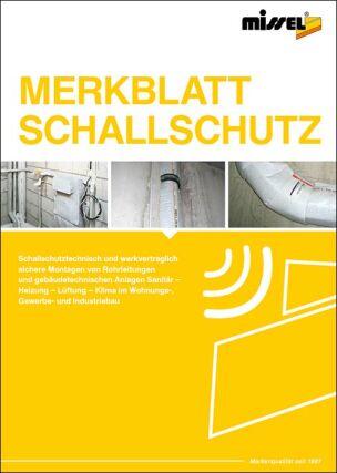 "Merkblatt ""Schallschutz"""