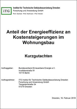 """Gutachten: """"Energetische Anforderungen sind kein Kostentreiber für bezahlbaren Wohnungsbau"""""""