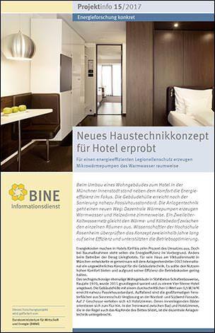 """BINE-Projektinfo """"Neues Haustechnikkonzept für Hotel erprobt"""" (15/2017)"""