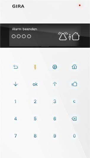 Bediengerät von Gira Alarm Connect