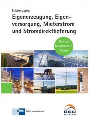"""Faktenpapier """"Eigenerzeugung, Eigenversorgung, Mieterstrom und Stromdirektlieferung"""""""