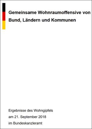 Gemeinsame Wohnraumoffensive von Bund, Ländern und Kommunen