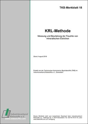 TKB-Merkblatt 18 - Messung und Beurteilung der Feuchte von mineralischen Estrichen