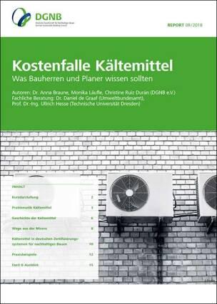 """DGNB-Studie """"Kostenfalle Kältemittel- Was Bauherren und Planer wissen sollten"""""""