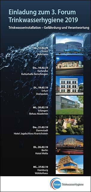 Flyer zum 3. Forum Trinkwasserhygiene