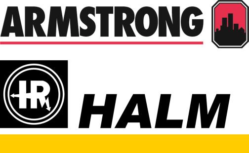 Logos von Armstrong Fluid Technology und HALM Motors+ Systems GmbH