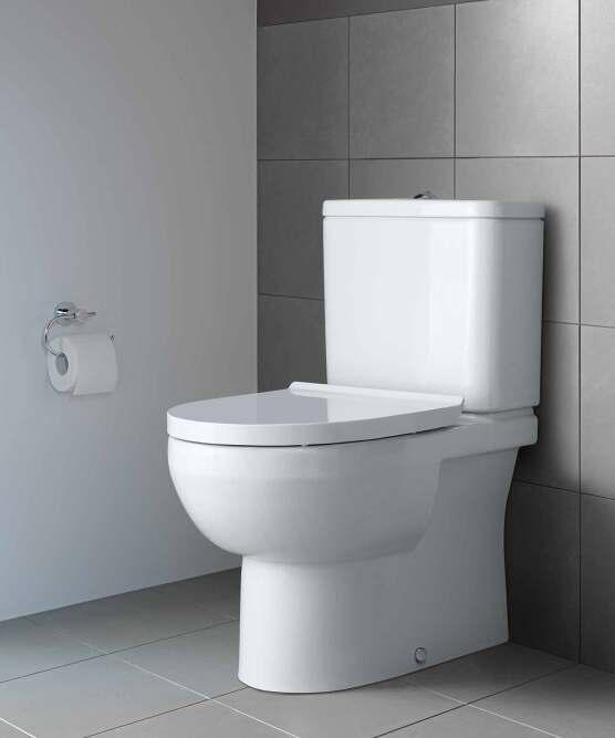 Stand-WC-Kombination von Duravit mit aufgesetztem Spülkasten