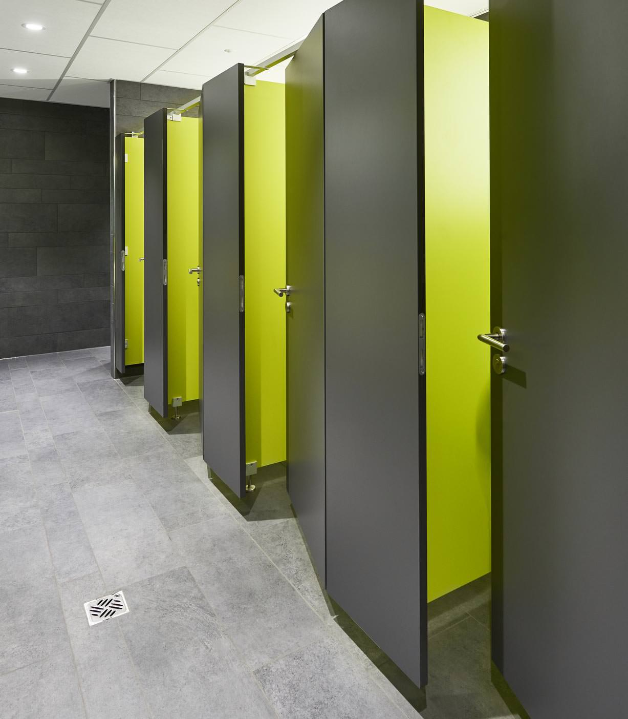 WC-Trennwände von Schäfer mit FSC- und PEFC-Siegel