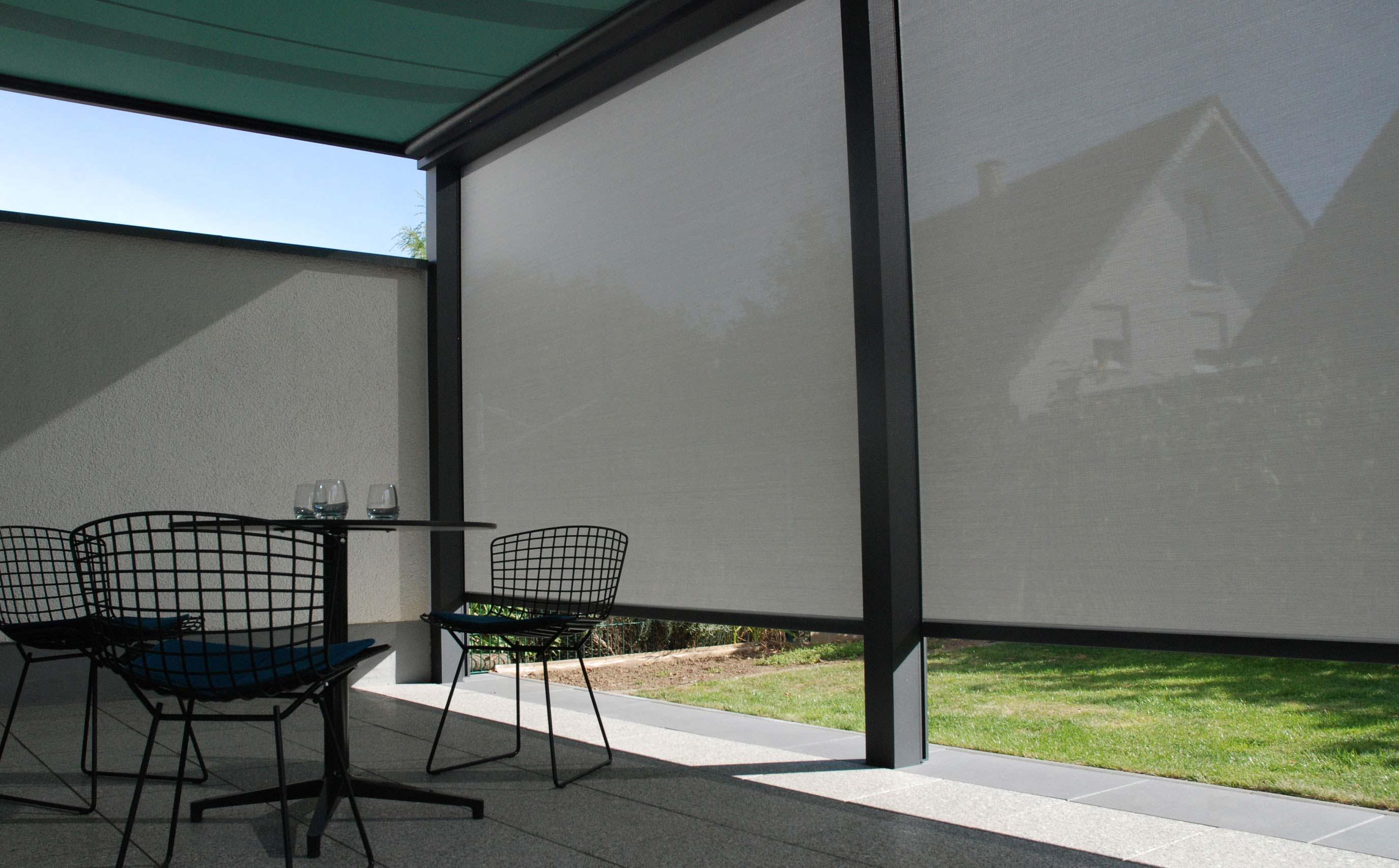 Senkrechter Sonnenschutz Fur Mehr Privatsphare Auf Der Terrasse