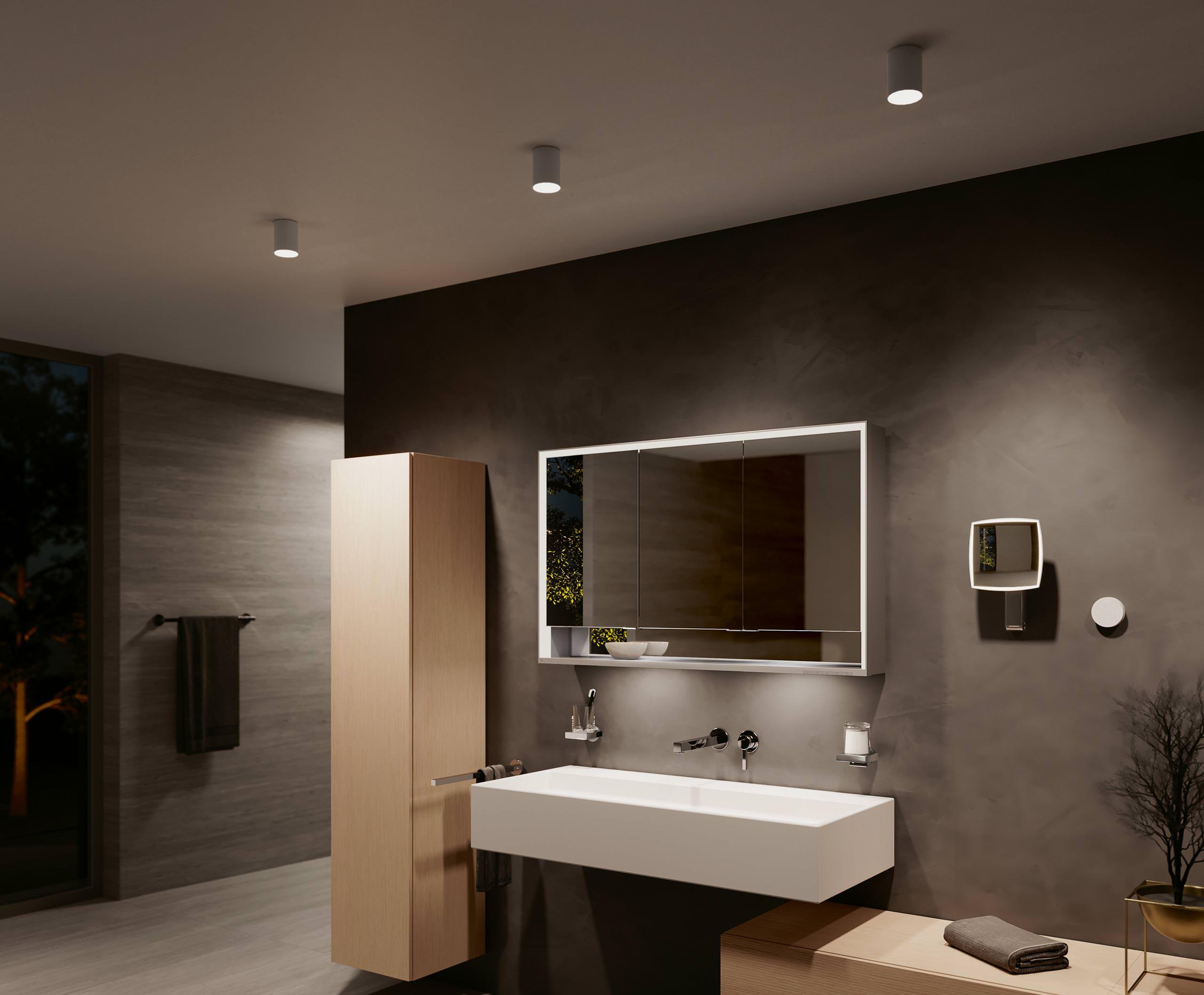 Smarte, durchgängige Badbeleuchtung vom Badausstatter Keuco
