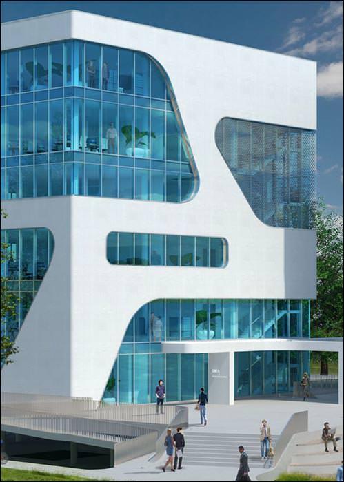 Freyler-Sonderkonstruktion für dynamische Hightech-Fassade am FC Campus