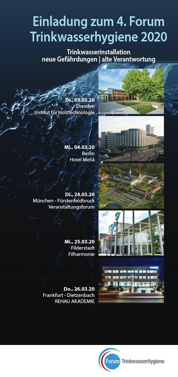 Forum Trinkwasserhygiene 2020 wieder von und mit Danfoss, Rehau und Schell - Baulinks