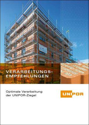 """Unipor-Handbuch """"Verarbeitungsempfehlungen"""" von Ziegelmauerwerk"""