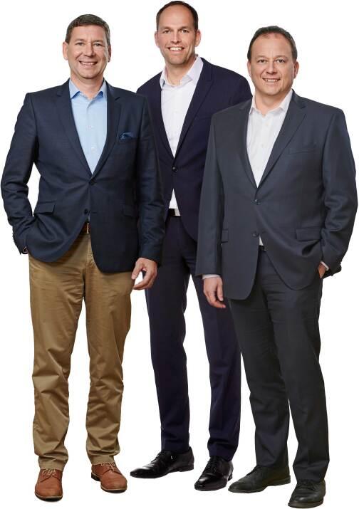 Inoutic/Deceuninck-Geschäftsführung : Peter Laubenstein, Jörn Schütte und Didier Leclercq